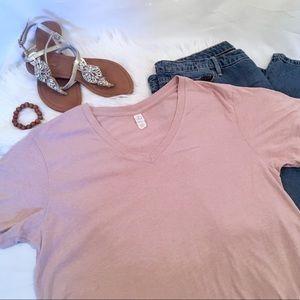 Vintage feel jersey v-neck tee, 2X